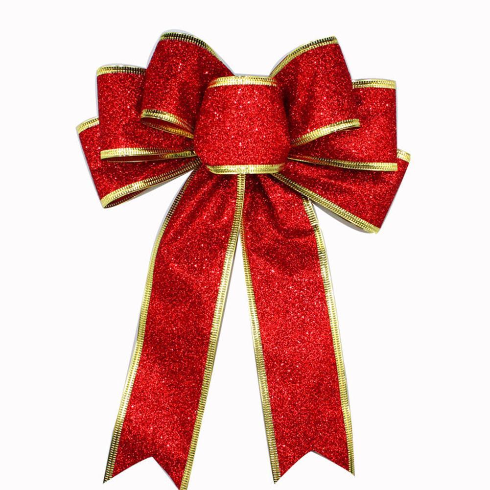Suprimentos de Natal Glitter Powder partido da árvore de Natal Bowknot presente Decoração Xmas Present Nova