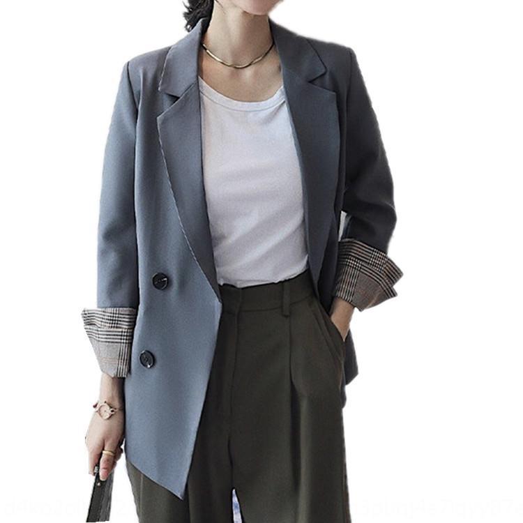 kBVDg костюм Весна Новая шикарный небольшой 2020 женщины Корейское пальто свободного похудение темперамент стиль Интернет пальто знаменитость костюм