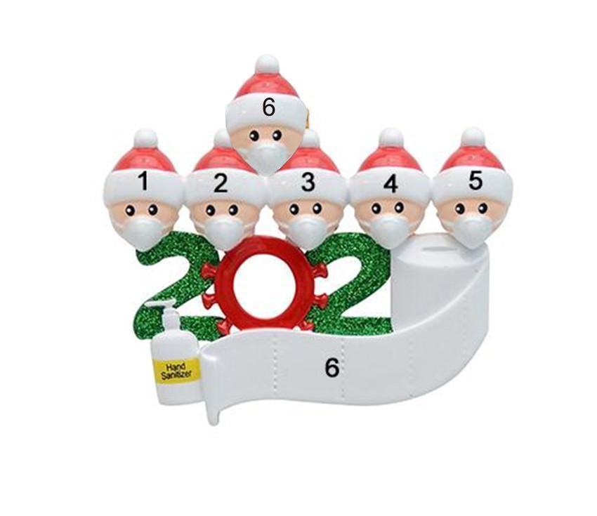 2020 hanging cuarentena de Navidad Decoración fiesta de cumpleaños de la familia de producto personalizado de 5 ornamento pandemia -Social distanciamiento
