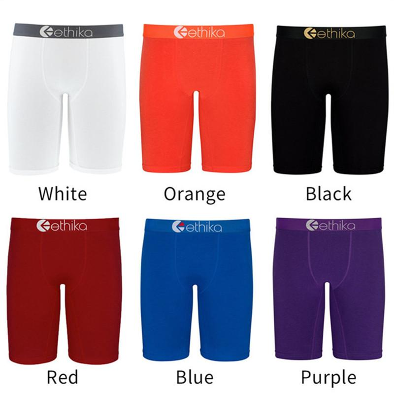 Fashion Mens Shorts Summer Swimwear Solid Color Boxers Quick Dry Breathable Short Pants Men Sports Shorts Swimming Boxers Underwear 6 Colors
