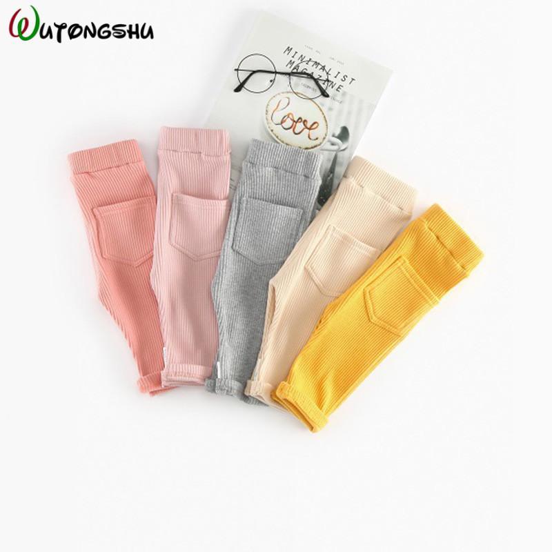 Moda İlkbahar Sonbahar% 100 Pamuk Boy Kız Pantolon Bebek Tozluklar Bel Çocuk Pantolon Pantolon Bebek Giyim MX200811