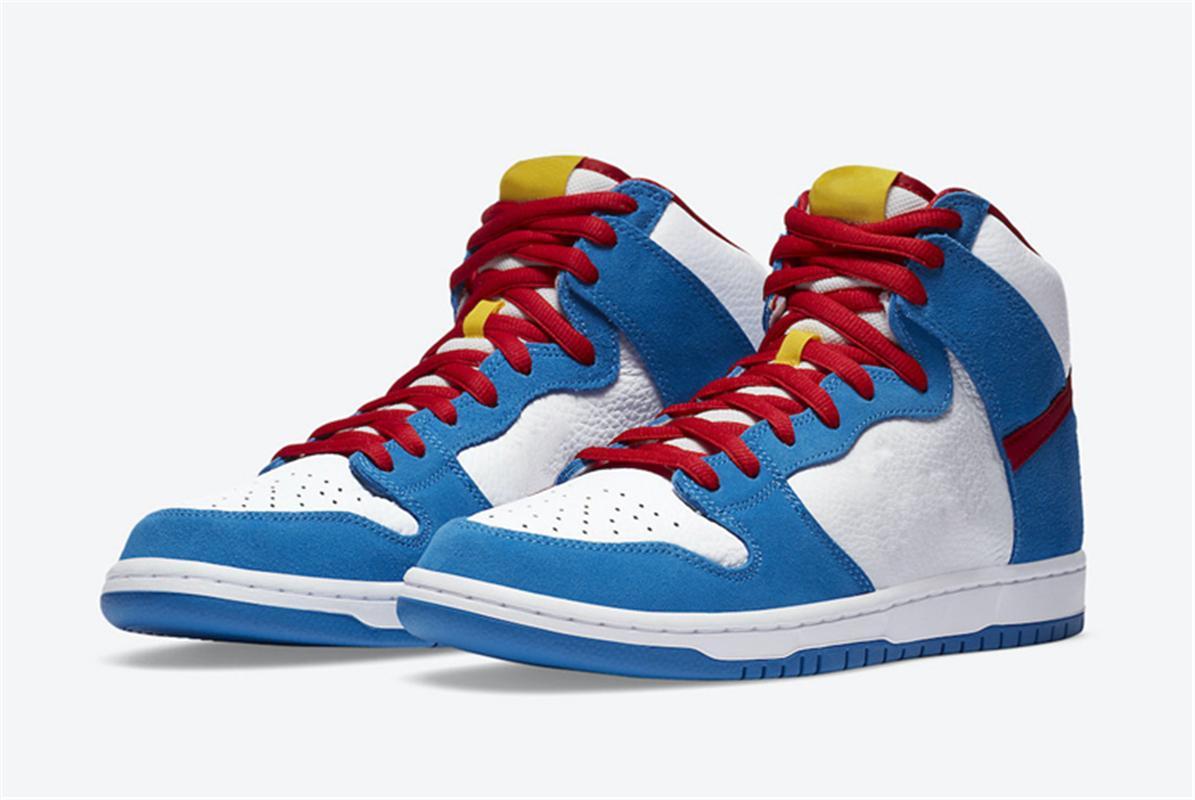 2020 auténticos SB Dunks High Doraemon CI2692-400 Skateboard Shoes Sports Sneaker con caja original NAKFGINSBRemojar