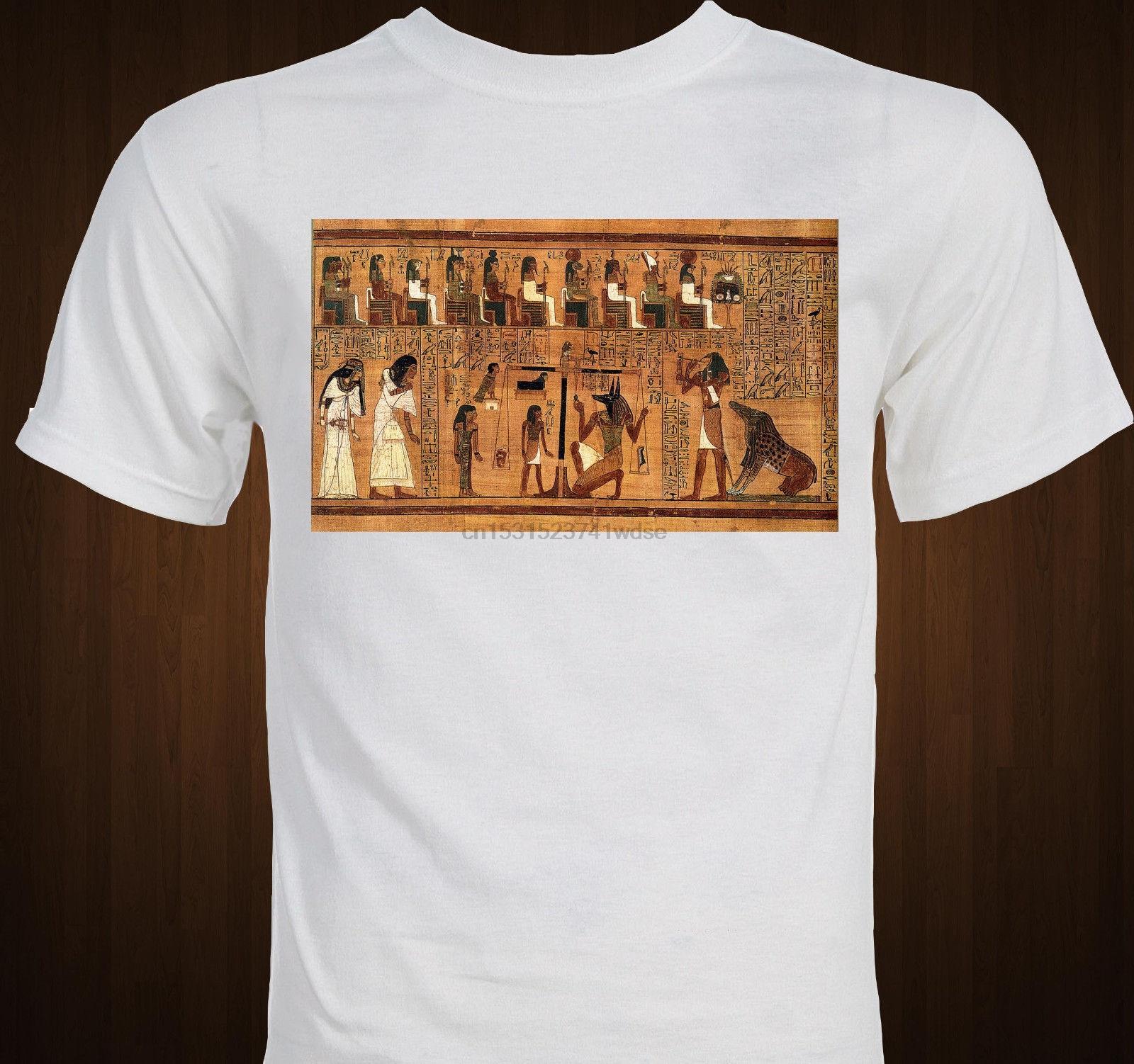 Libro de los Muertos egipcio antiguo artefacto Egipto jeroglífico camiseta de algodón de manga corta T Camisas Ropa hombre