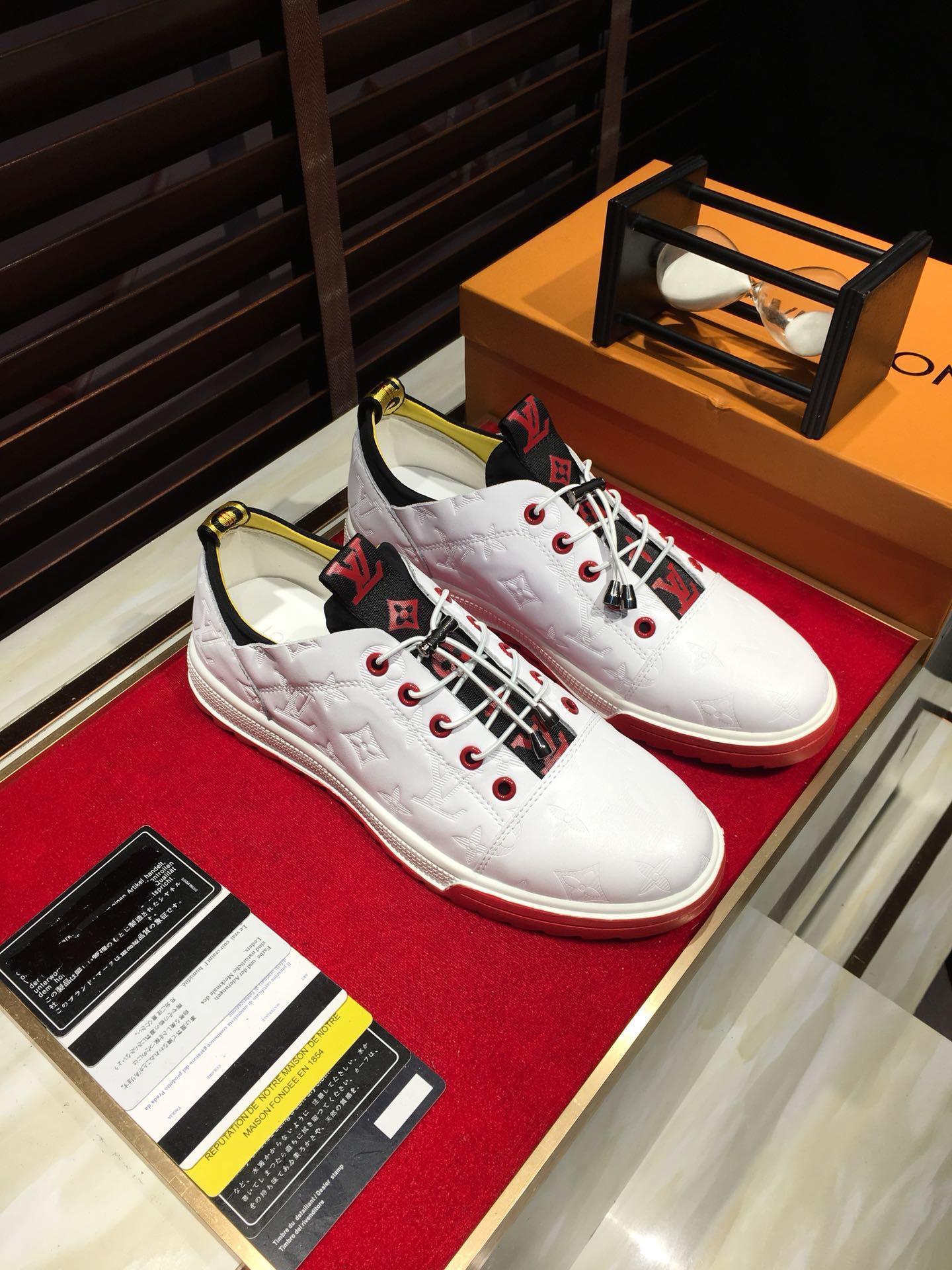 2021f Limited Edition Brief Leder-Druck-Männer; S Täglich schnüren sich oben beiläufige Schuhe, High-End Modische wilden Outdoor-Turnschuhe, Größe: 38 -4