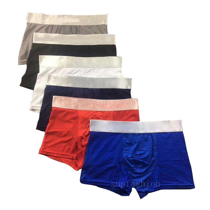 5 unids / lote ropa interior para hombre pantalones cortos de boxeador modal sexy gay macho ceuca boxeadores broncillos transpirable nuevo malla hombre ropa interior M-XXL de alta calidad