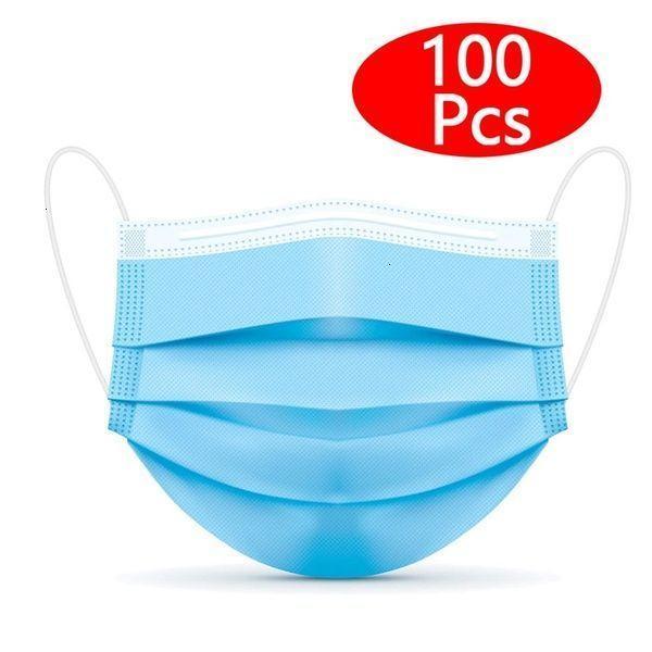 100 Adet Tek maskeler 3 Kat askısını Nefes alabilir Konfor Güzellik Toz Nefes maskeler