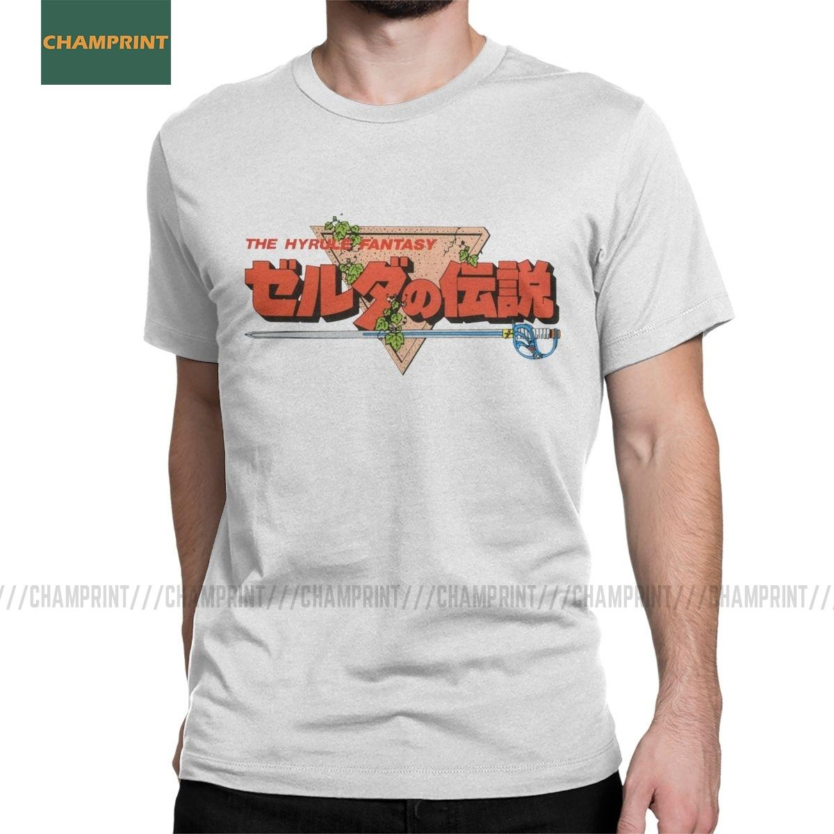 The Legend of Zelda giapponesi Logo magliette da uomo in cotone T-shirt Toon Stained Glass Hyrule gioco Ganon Tee Shirt manica corta