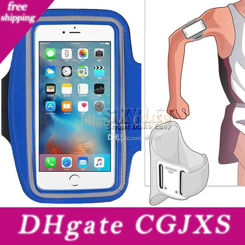 Für Iphone Xs Max Wasserdichte Sport-laufende Armbinde-Kasten-Trainings-Armbinde-Halter-Beutel-Mobiltelefon-Arm-Beutel mit Opp Beutel