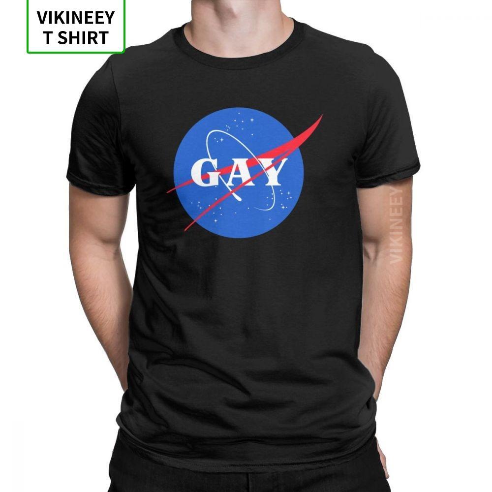 orgoglio logo t shirt gay vintage per lo spazio uomini gay queer lgbt LGBTQ vestiti manica breve disegno maglietta in cotone della camicia o-collo t-shirt