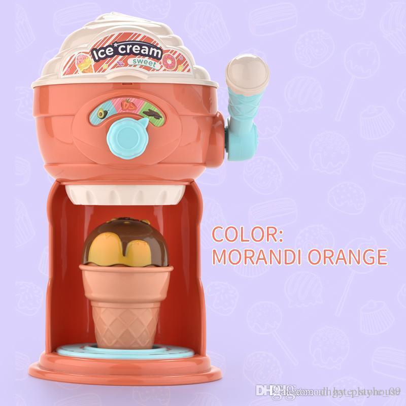 Engraçado Ice Cream Maker Pretend Play bricolagem brinquedo cozinha máquina de Educação miúdos dos desenhos animados brinquedos bonitos Troca de Papel Presentes das meninas interessantes
