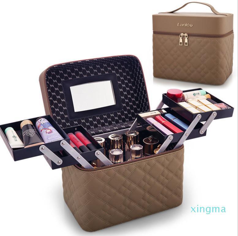 Neuen- Tasche tragbarer multifunktionale kosmetische Aufbewahrungsbox Mädchen Herz Desktop tragbares kosmetischer Kasten freies Verschiffen