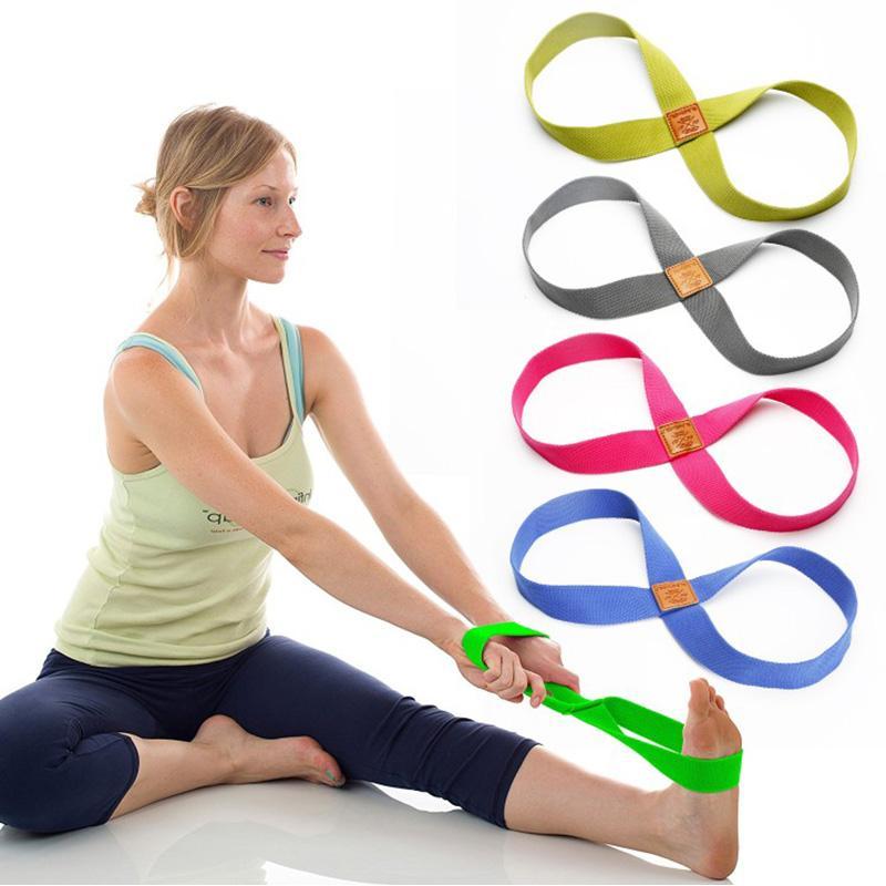 Yoga Resistência Bandas Yoga estiramento Strap Esporte Exercício Sports Yoga Gym Stripes Fitness Equipment Durable portátil