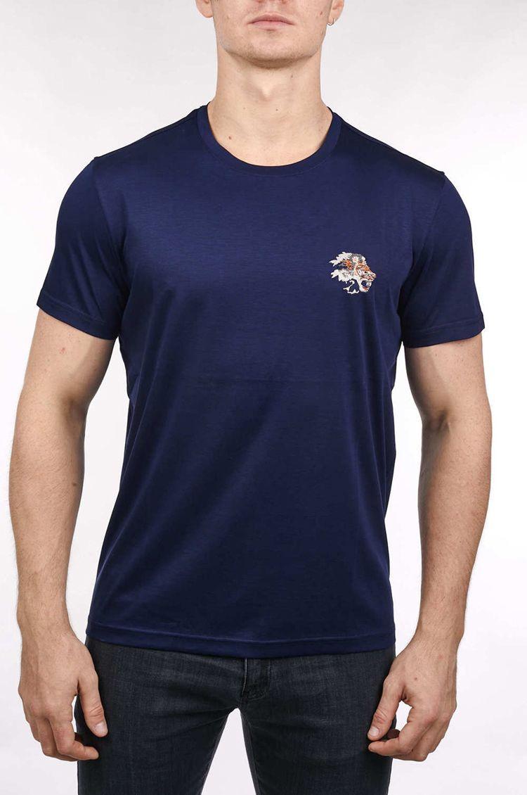 Z * LL * Kurzarm-T-Shirt mercerisierter Baumwolle 2020 Sommer neue Art und Weise beiläufigen Geschäft England bequemer Stickerei hohe Qualität