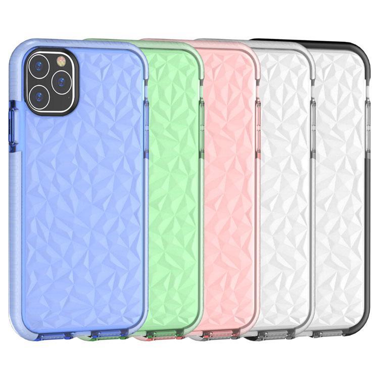 Для Apple Diamond TPU Clean Clean Cube Cube Cable Case Full Profection Drop Proof Phone Caper для iPhone 8Plus XR X Max 11 Pro