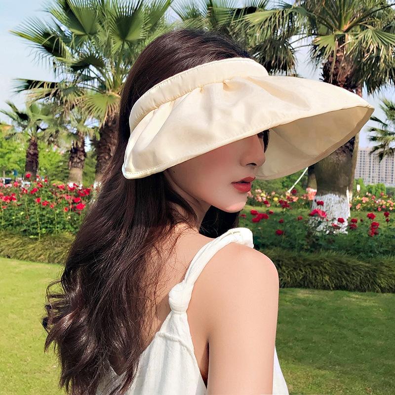 Co2vB New koreanischen Frauen Allgleiches Schutz Shell Sonne trendy Net roten Schale Hut UV-Schutz Sonnenhut Sommer