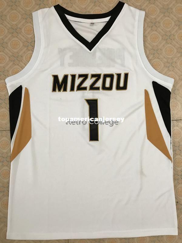 # 1 Phil Pressey Missouri Tigers Basketball Jersey Tous Taille Stitched Stitched Personnalisez l'un nom et nom XS-6XL Gilet Maillots Ncaa