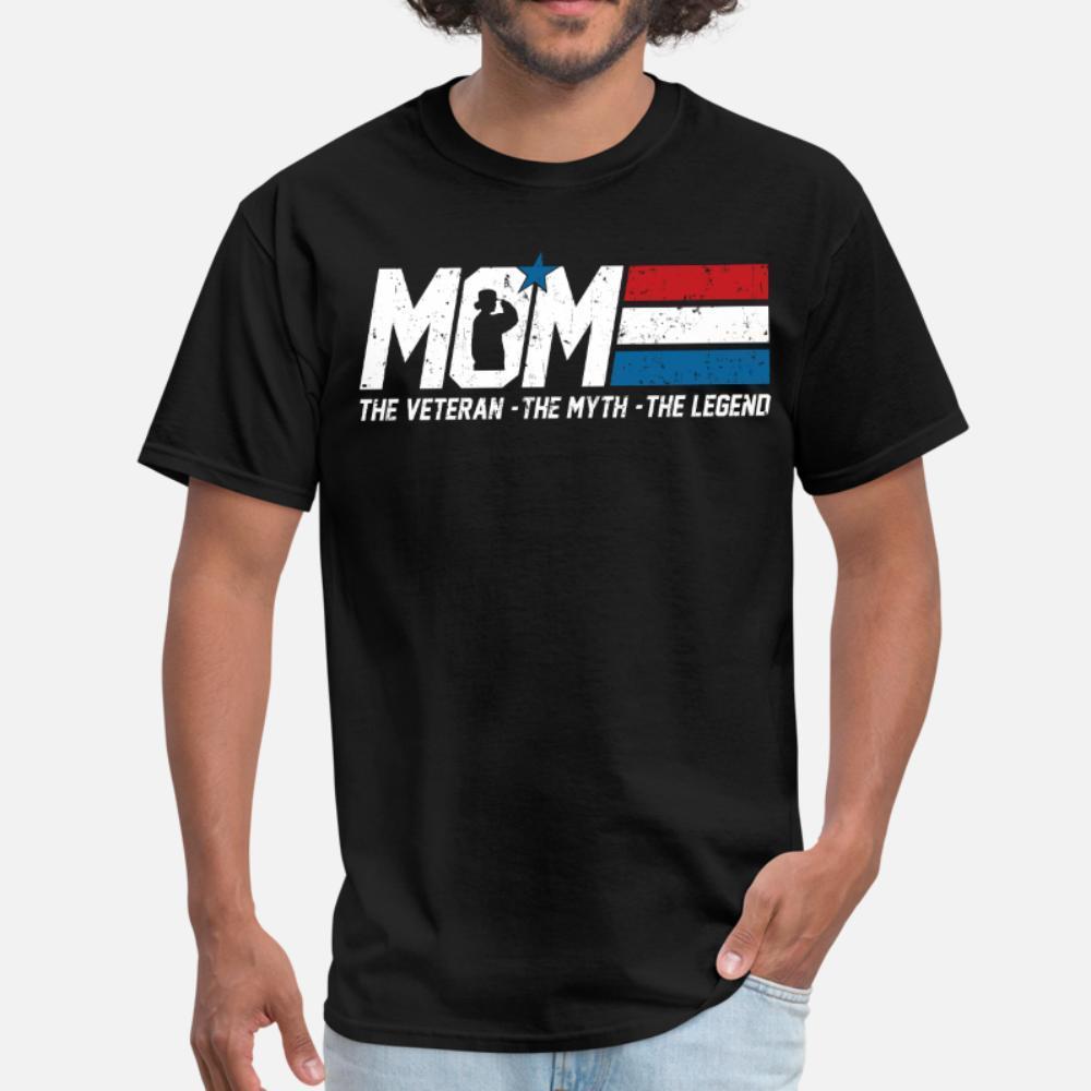 Bandeira americana Veteran Mom Exército dos EUA camisetas homens personalizado roupas de manga curta S-XXXL Anti-rugas camisa Casual Primavera Outono normal