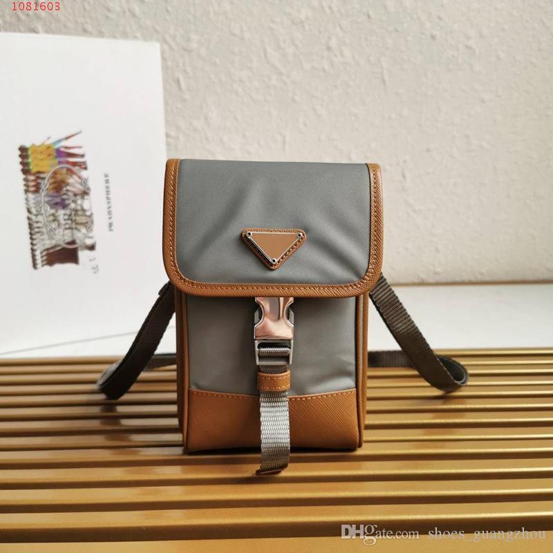 Üst düzey özel Trend Şık Mini kare çanta Toka açılış tasarımı Kahverengi, siyah ve gri deri telefon çapraz ceset torbaları her maç