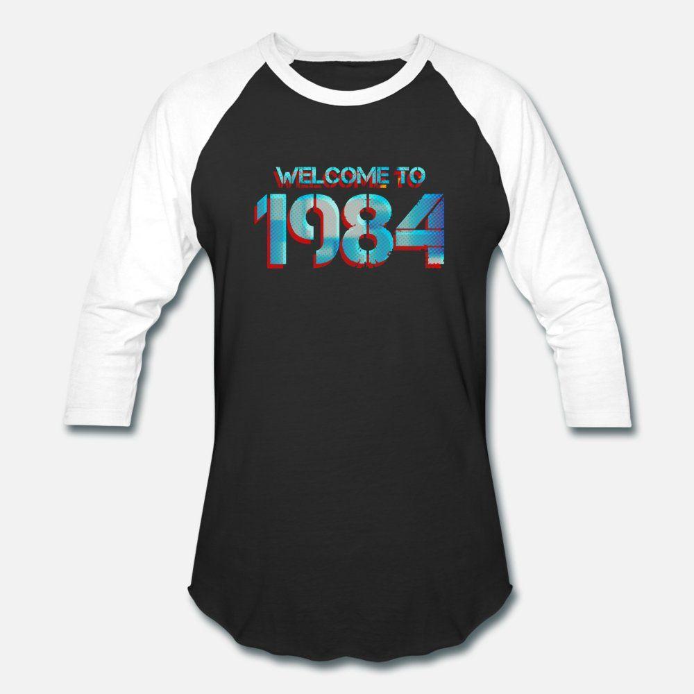 1984 Destruir camisa T homens criar manga curta O Neck normal Fit forma da camisa Estilo Lazer Verão
