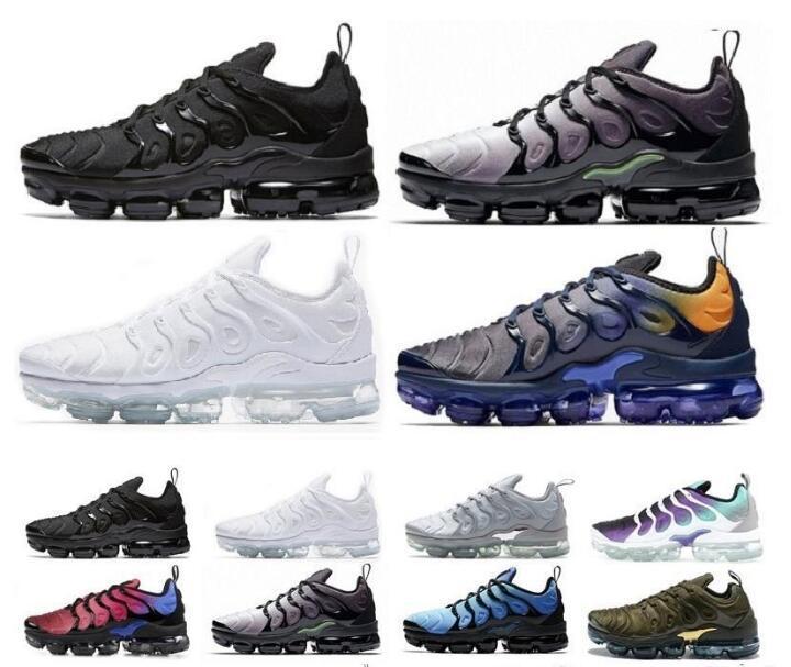 Nike Vapormax TN Plus Nike Air max 97 2019 nouveaux hommes et femmes chaussures de sport confortables chaussures de sport mixte bleu jaune 36-45
