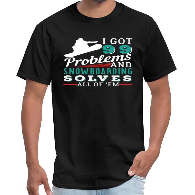 Designer SNOWBOARDING resolve todos os problemas Stark Industries t shirt mulheres thundermans camisa t s-6xl roupa