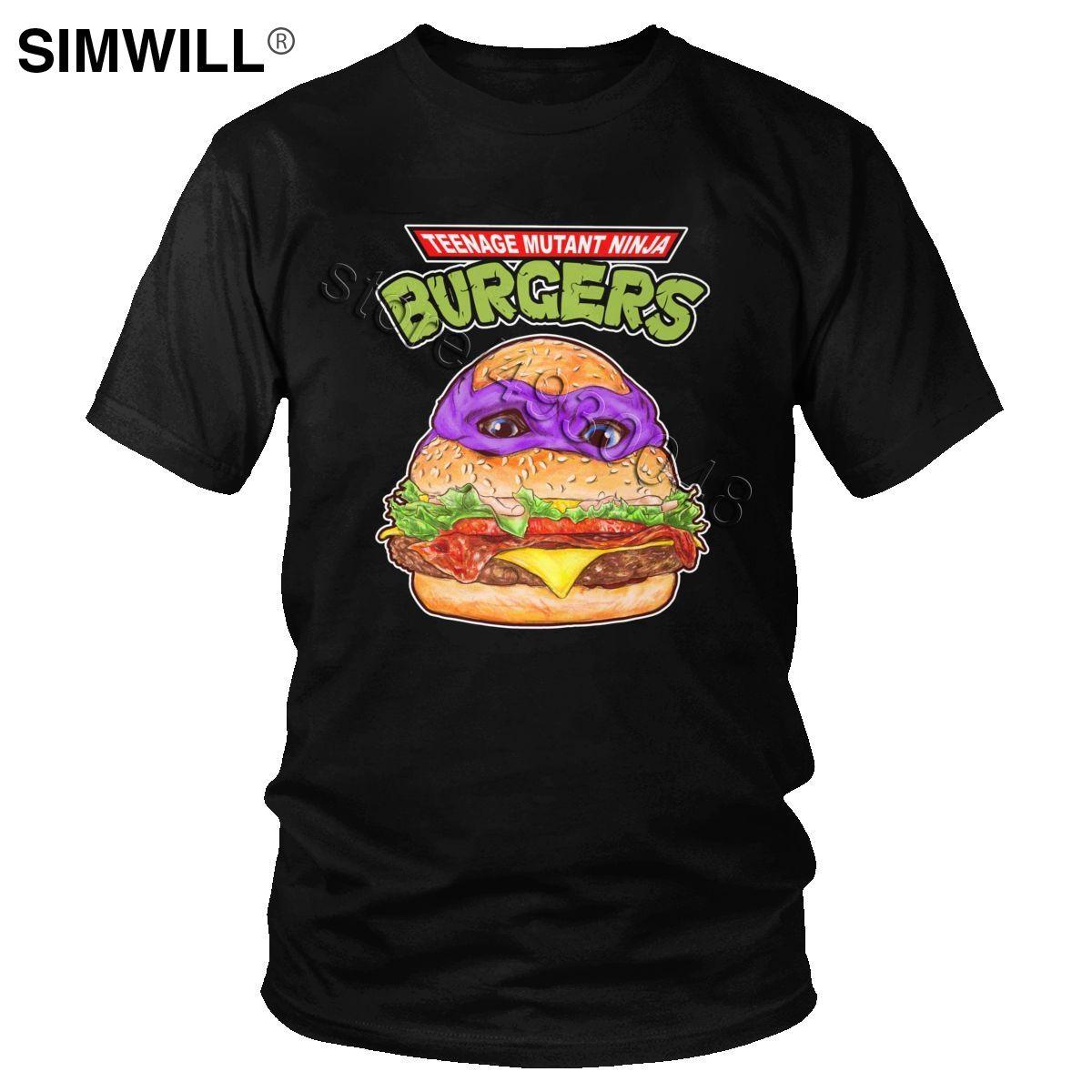Classique Dernières T-shirt pour homme pur Burgers drôle de coton T-shirt manches courtes T-shirt Hamburger de loisirs T-shirt cadeau fans jeu