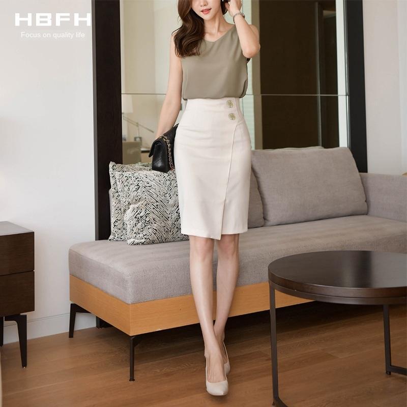 MmmcH Zsir4 abricot demi-longueur 2020 nouvelle robe mi-longueur haute mi-longueur de ceinture avant de la hanche professionnel d'une étape une étape divisée jupe d'été l