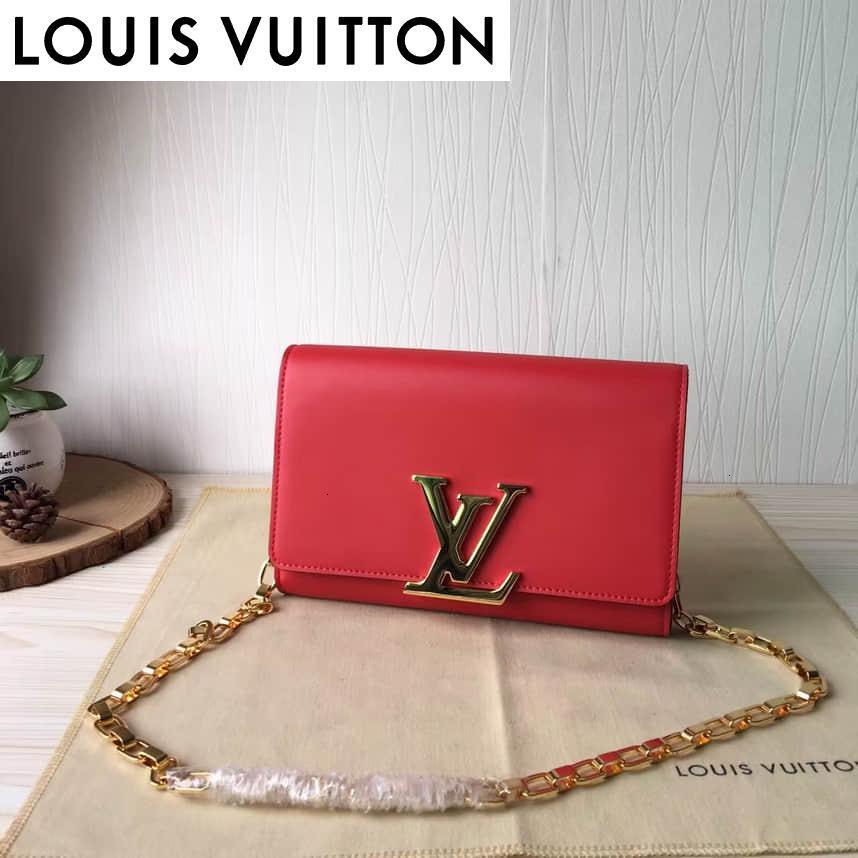 Y6EA 94335 sac à chaîne manuelle double rouge femme sacs à main ICONIQUES BAGS anses SACS Bandoulière CROSS BODY BAG SOIR EMBRAYAGES
