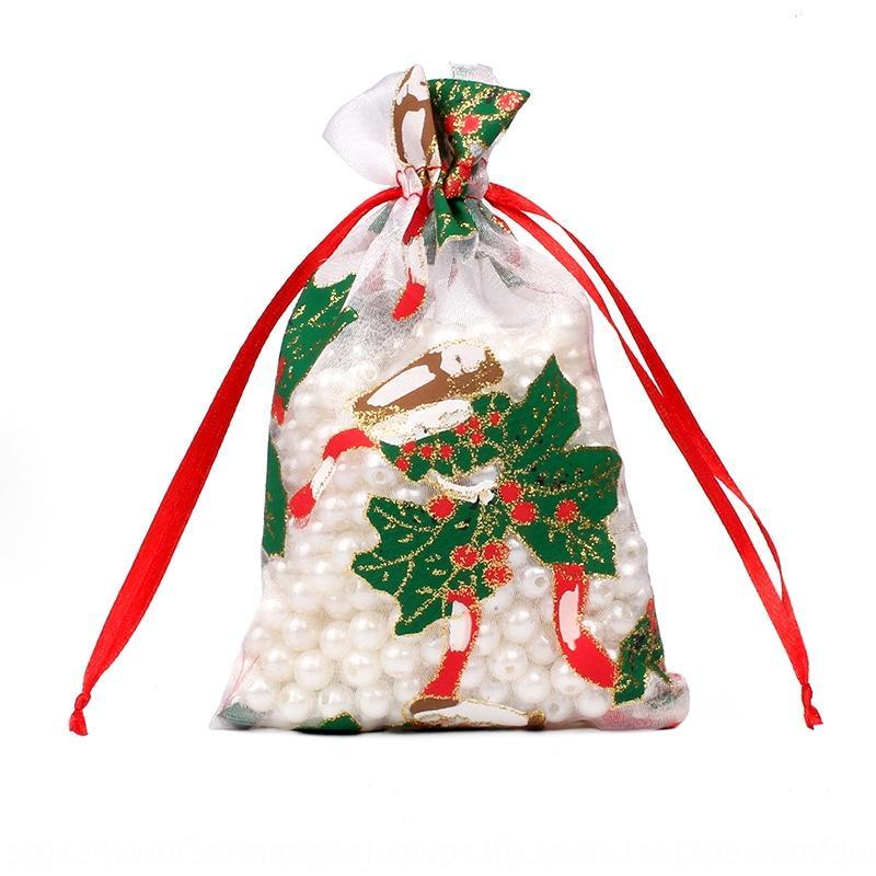 bronzeando doces Calendário saco de gaze bolso pacote de presente de Natal presente de doces decoração saco Natal chegando calendário