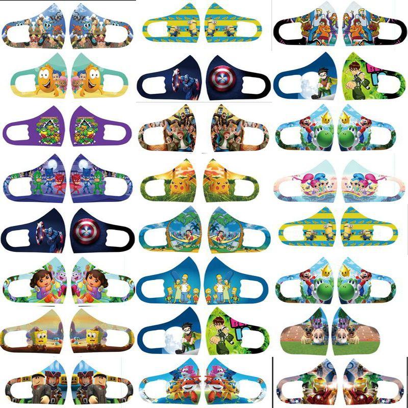 Mascarilla De Disenador protectores faciales Mascarilla De Película Cara máscara personalizada Designer Outlet Carácter niños de tela Máscaras de dibujos animados en línea