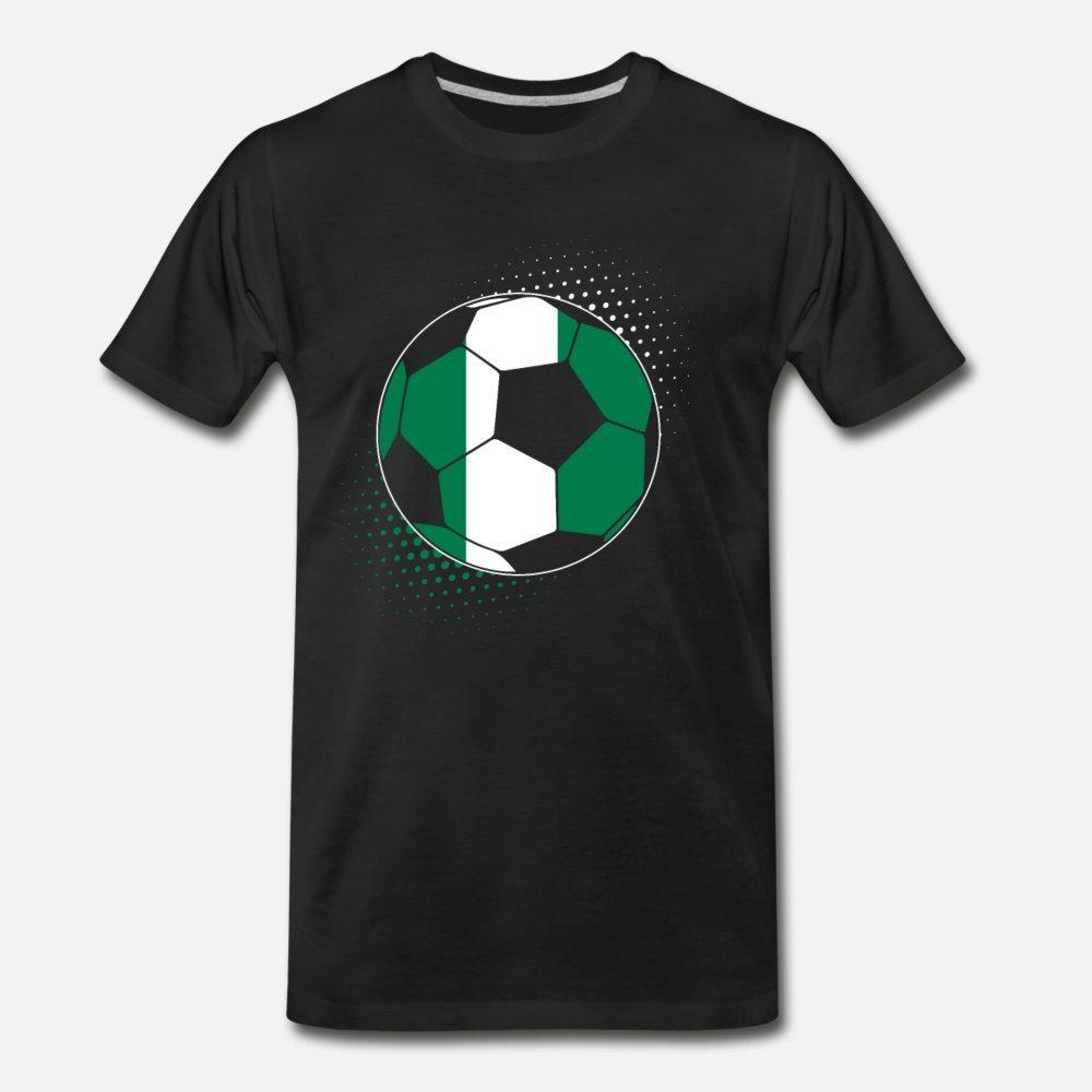 Nigéria bola de futebol t shirt homens personalizado de manga curta em torno do pescoço Carta gráfico engraçado Casual Primavera original da camisa