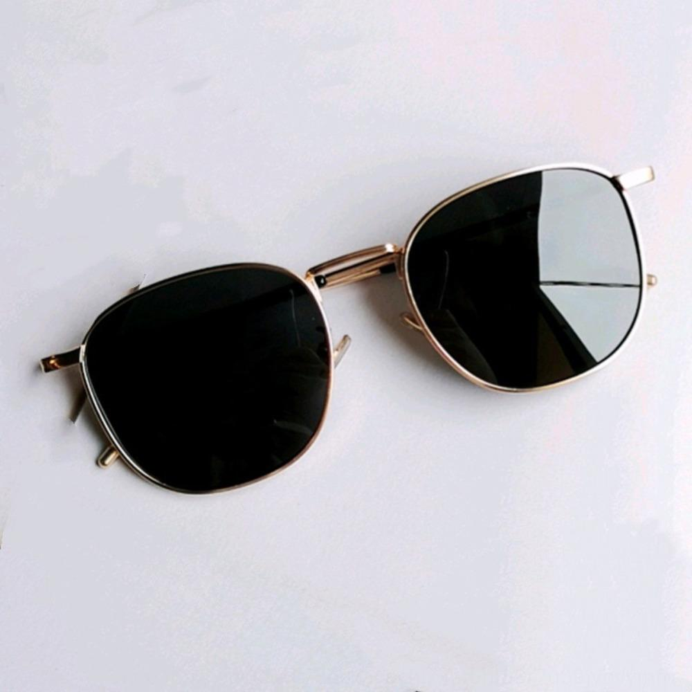rue Couple coréen boîte shot Brown soleil lunettes polarisées personnalité visage lunettes de femmes autour de deux hommes à la mode