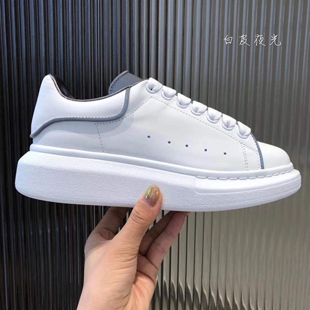 2019 Mens Top Womens formadores Branco couro sapatos de plataforma Chaussures Casual planas pour hommes Suede Sports Sapatilhas