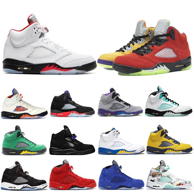 Лучшие моды What The 5 5s Мужчины Баскетбол обувь Alternate TOP Огонь Красный Орегон уток острова зеленые крылья Мужские Мичиган Кроссовки Кроссовки