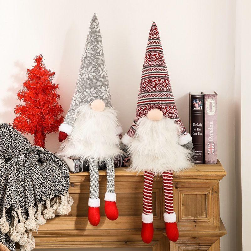Árbol de Navidad Gnome Topper sueco Tomte Adornos de Santa Gnome Gnomos felpa escandinava Decoración de Navidad Decoración Casa JK2008XB