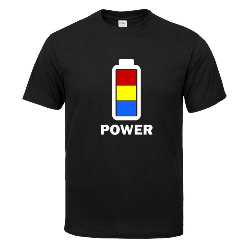Güç up Yeni Casual Erkek T Shirt Yaz Moda Tişört Erkekler Yüksek Kalite Pamuk O-Yaka Kısa Kollu T Shirt Erkek Üst Tees