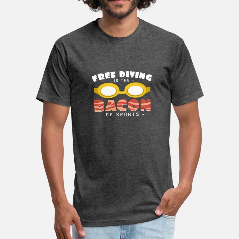 Freitauchen Wie ein Speck von Apnoe Sport Hobby T-Shirt Männern gedruckt Kurzarmshirt mit runden Ausschnitt Brief losen Humor Frühlings-Weinlese-Hemd