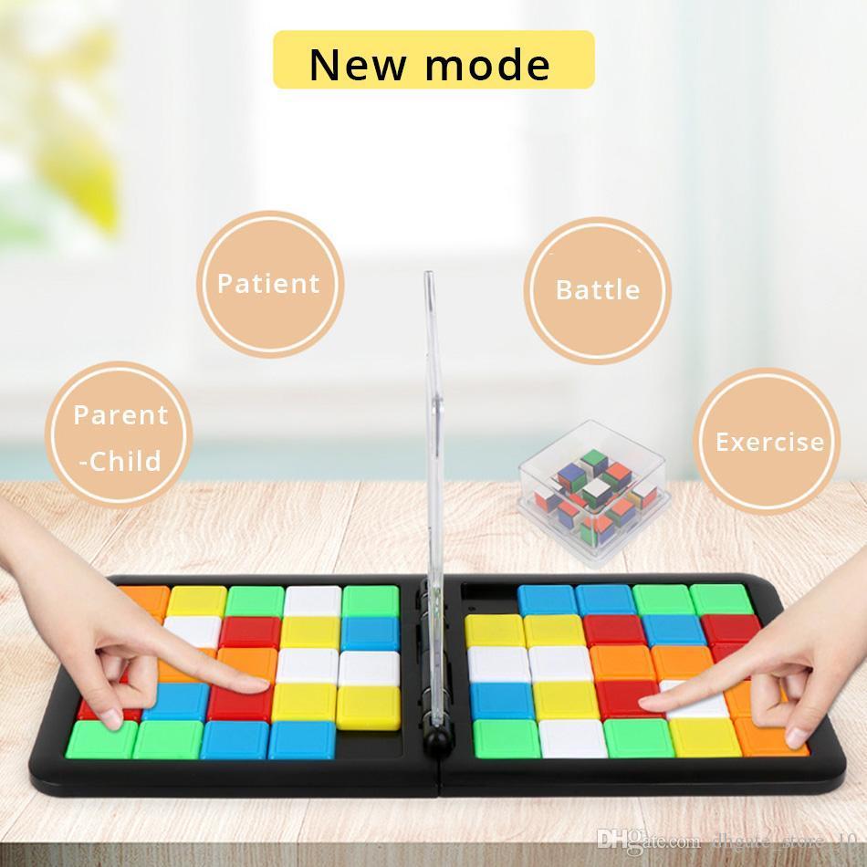 Etkileşimli Renkli Savaş Spor Veli Çocuk Game Cube 3D Bulmaca yarışı Küp Masaüstü Eğitim Partisi Oyun Oyuncak İçin Çocuk Yetişkin