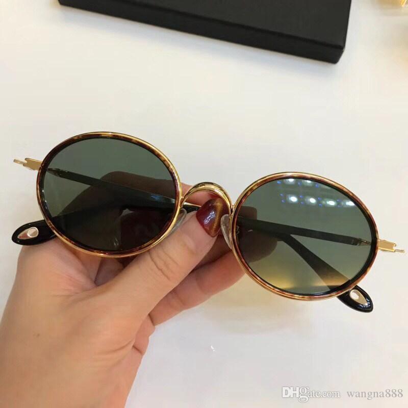Luxo 7052 óculos de sol para as mulheres Popular Designer Estilo Retro GV Oval Frame Frame UV Protection CR-39 Lens Free Full Vem com pacote