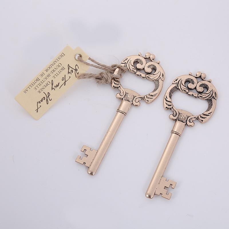 """(100 Pieces/Lot) """"Key to My Heart"""" Antique Bottle Opener Wedding souvenirs For Wedding and Party decoration gift and Party favor"""