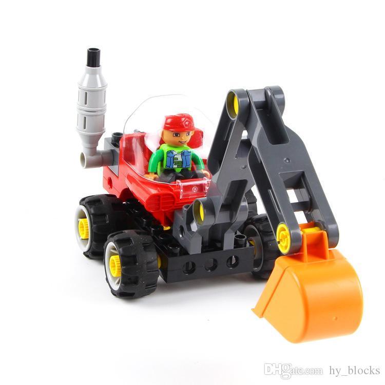 Çocuklar montaj erkek istihbarat hediye 07 için bina blokları oyuncak Makine mühendisliği araba serisi ekleyerek büyük parçacık DIY puzzle