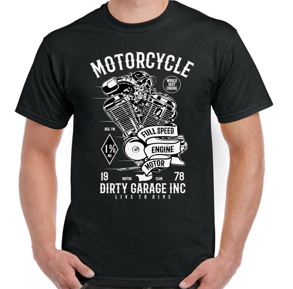 2020 marchio di abbigliamento nuovo modo per moto sporco Garage Mens motociclista T-shirt moto Chopper Engine Club