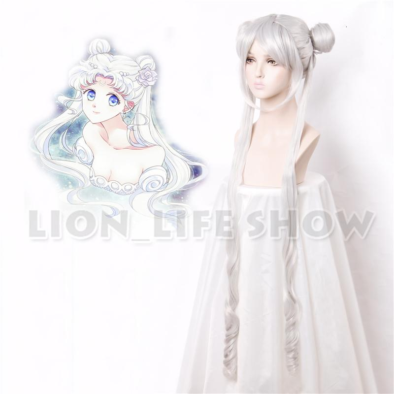 Silver Serenity Princ Wigs Sailor Moon Crystal New Queen Serenity Tsuking Usagi Super Sailor Moon Gray Cosplay Wig