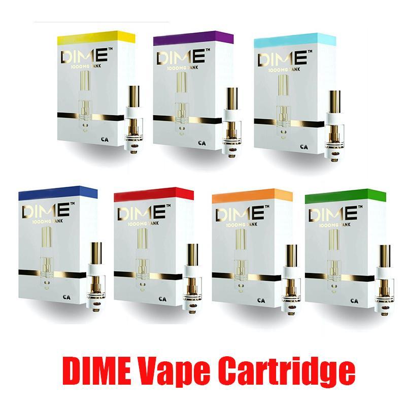 DIME Cartridge Vape 0.8ML Tank Ceramic Coil Thick Oil 510 Empty Pen Carts Vaporizer Atomizer Muha Med Premium In Stock