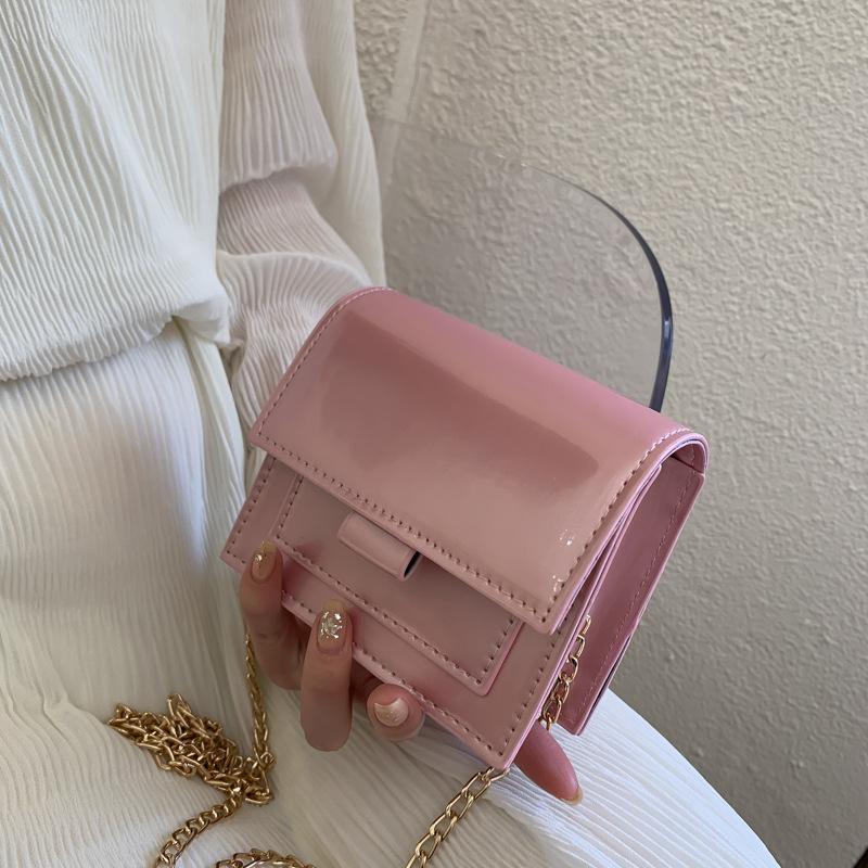 2020 новый PU кожа простой маленький квадратный мешок внешней моды мини плеча сумку диких Посланника сумки кошельки и сумки