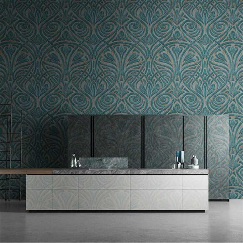 quarto de luxo europeu abstrato line art flor grande papel de parede high-end wellyu americanos retro sala papel de parede do fundo