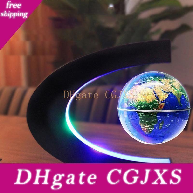 Manyetik Levitasyonunun Yüzer Dünya Haritası Globe ile C Şekli Bankası, Levitasyonunun Globe ile Led Işık İçin Çocuk Home Office 100 -240v (Us Eu Tak)