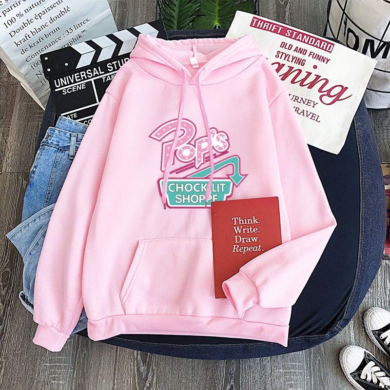 bdOV8 New camisola doce cor personalizado all-corresponder impressa suor do hoodie camisa camisola padrão hoodie do casal do Pink Pop