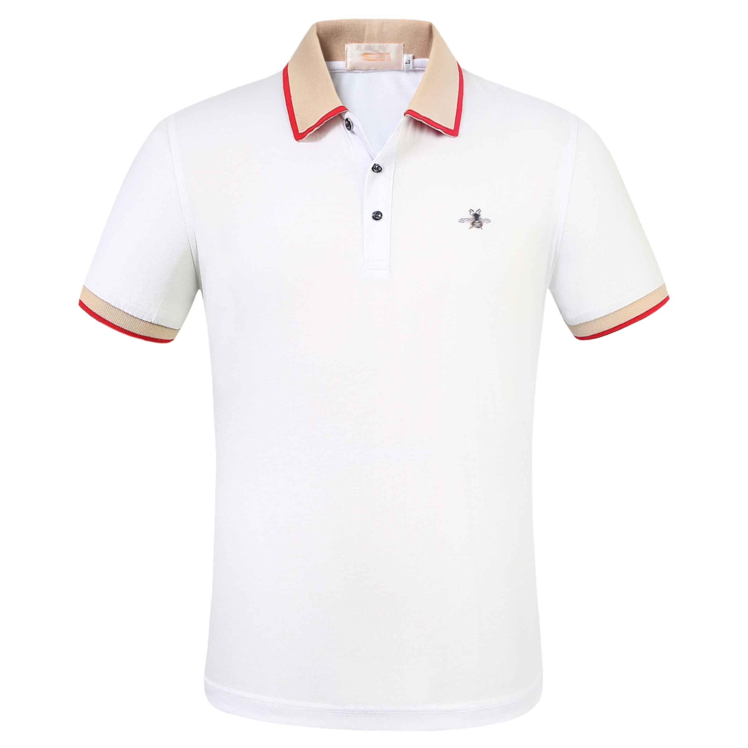2020 Designer T-shirt à manches courtes méduse T-shirt d'été des jeunes Chemise pour hommes pur T-shirt de base de coton Pure Color T-shirt décontracté