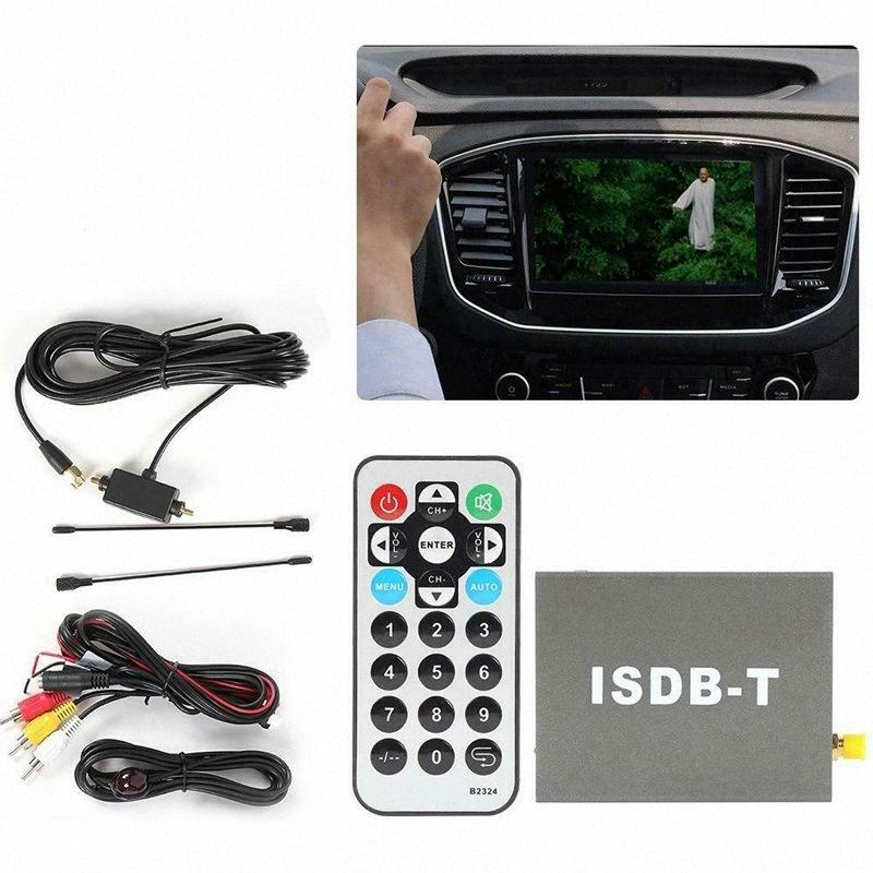 Novel-1 Pcs Black T502 ISDB-T Car Digital TV Receiver Box External Infrared Input Socket One Seg Standard Definition TV Tuner GPS uG2Y#